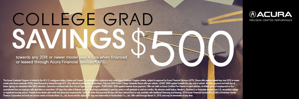 Acura College Graduate Bonus